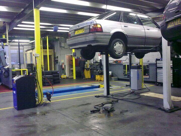 A car on a ramp